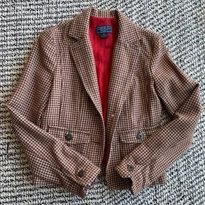 American Eagle Houndstooth Blazer